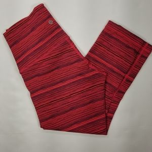 Lululemon Crop Leggings Sz 8 Red Women's